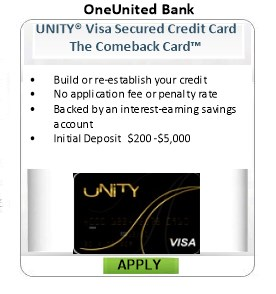 Deposit unsecured for bad credit no credit cards